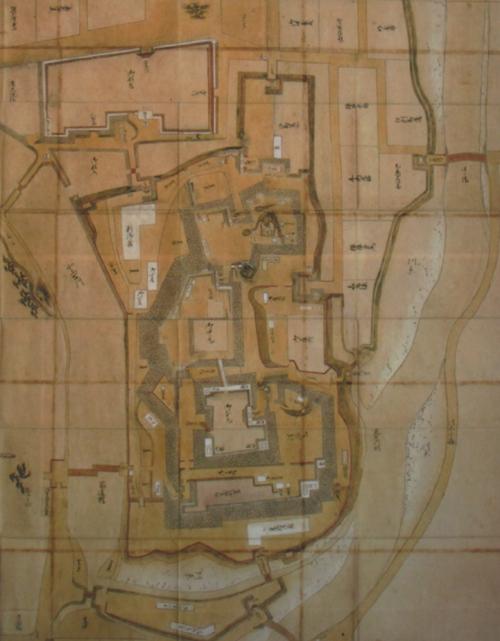 盛岡城古地図