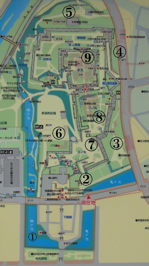 盛岡城地図