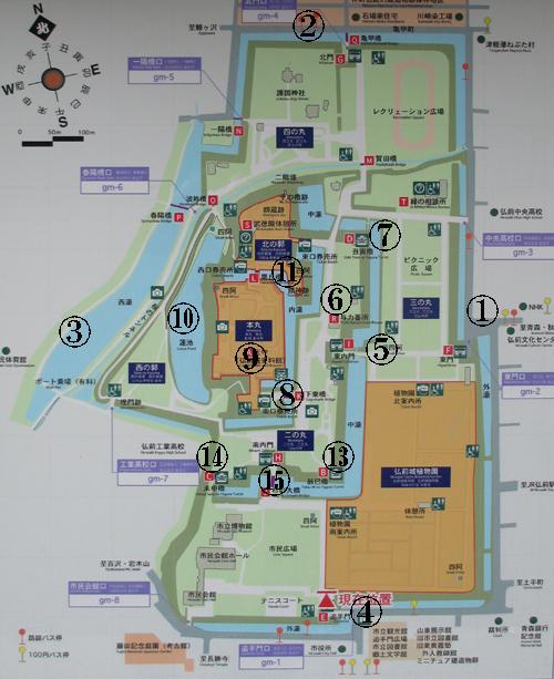 弘前城地図