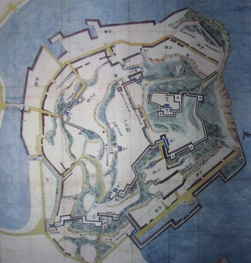平戸城古地図