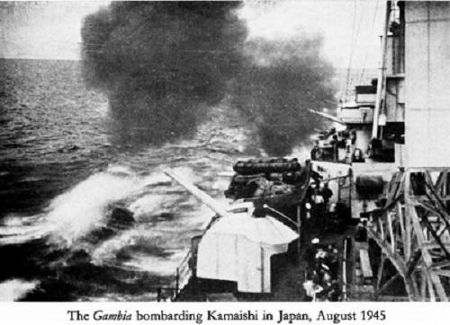 8 9 ニュージーランド 軽巡洋艦ガンビア