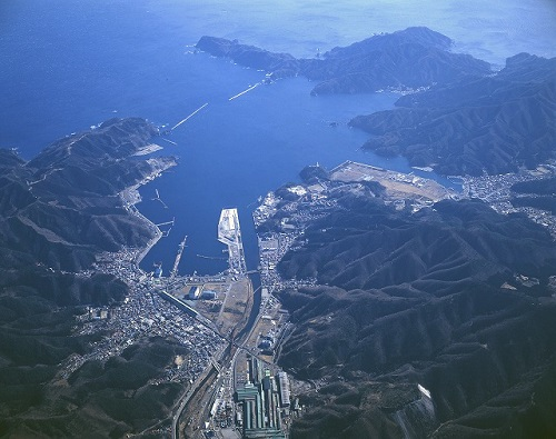 釜石港空撮1