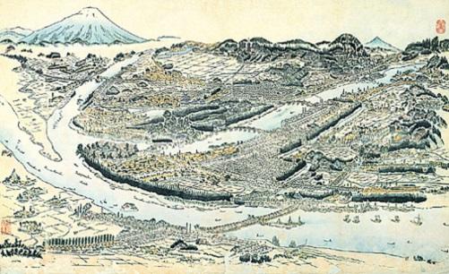 盛岡城下鳥瞰絵図