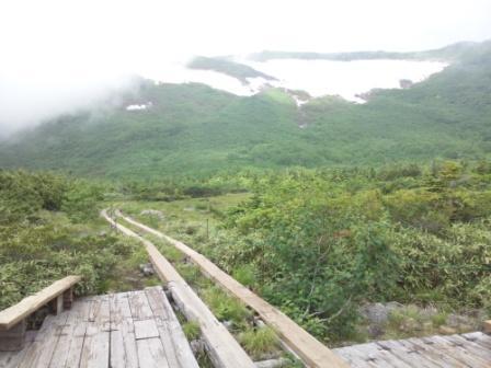 天狗原から見た白馬乗鞍岳方面