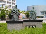 JR小松駅 弁慶富樫像