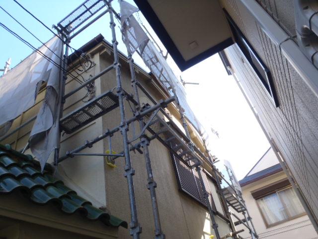 施工中屋根2
