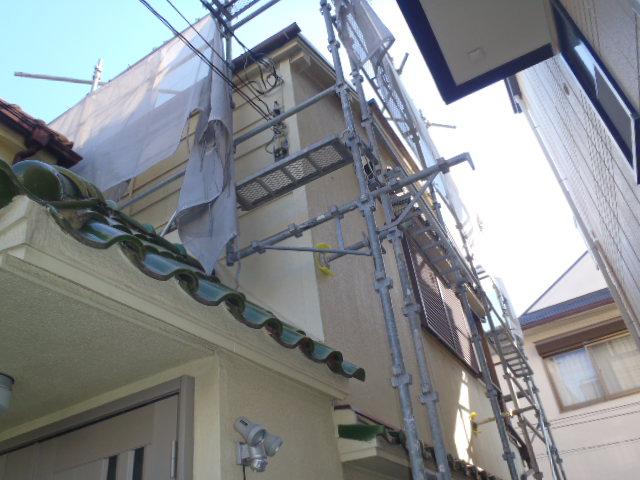施工中屋根1