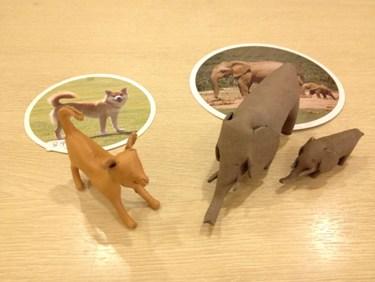 柴犬、ゾウの親子など色々種類がありますよ。