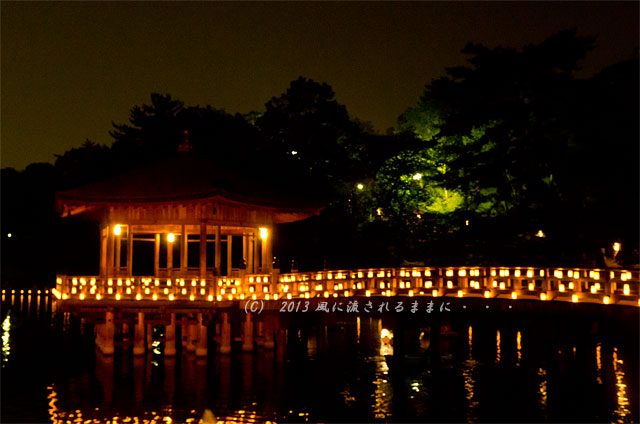 2013年 なら燈花会 浮見堂の夜景2