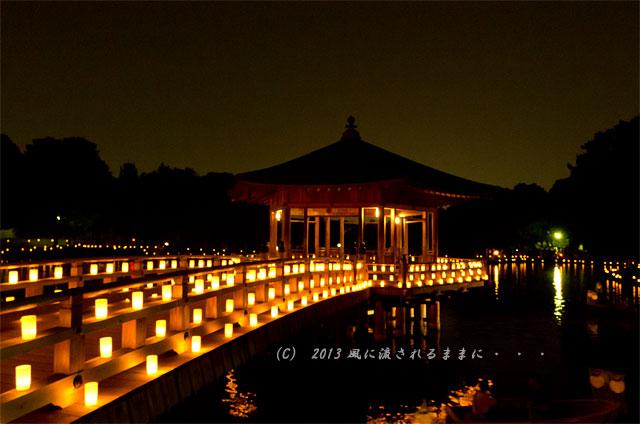 2013年 なら燈花会 浮見堂の夜景3