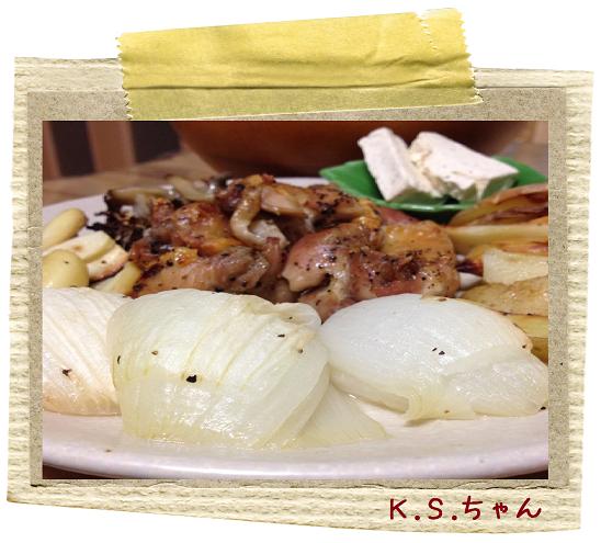 K.S.ちゃん鶏と新玉ねぎ
