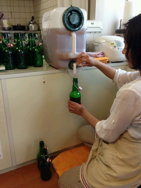 ビールの瓶詰