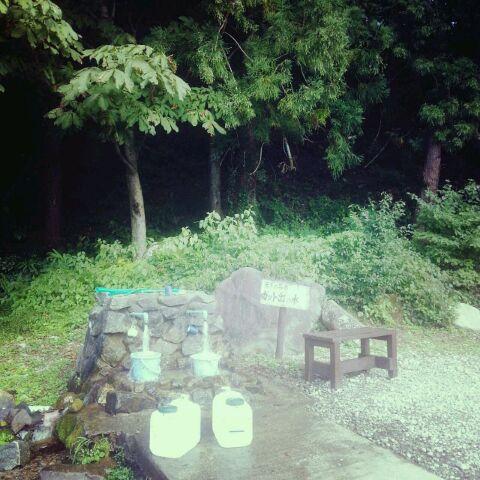 八尾桐谷の水