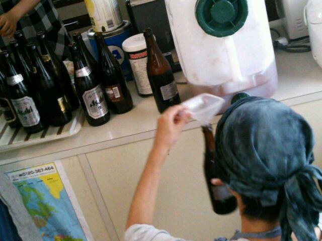 ビール瓶づめ