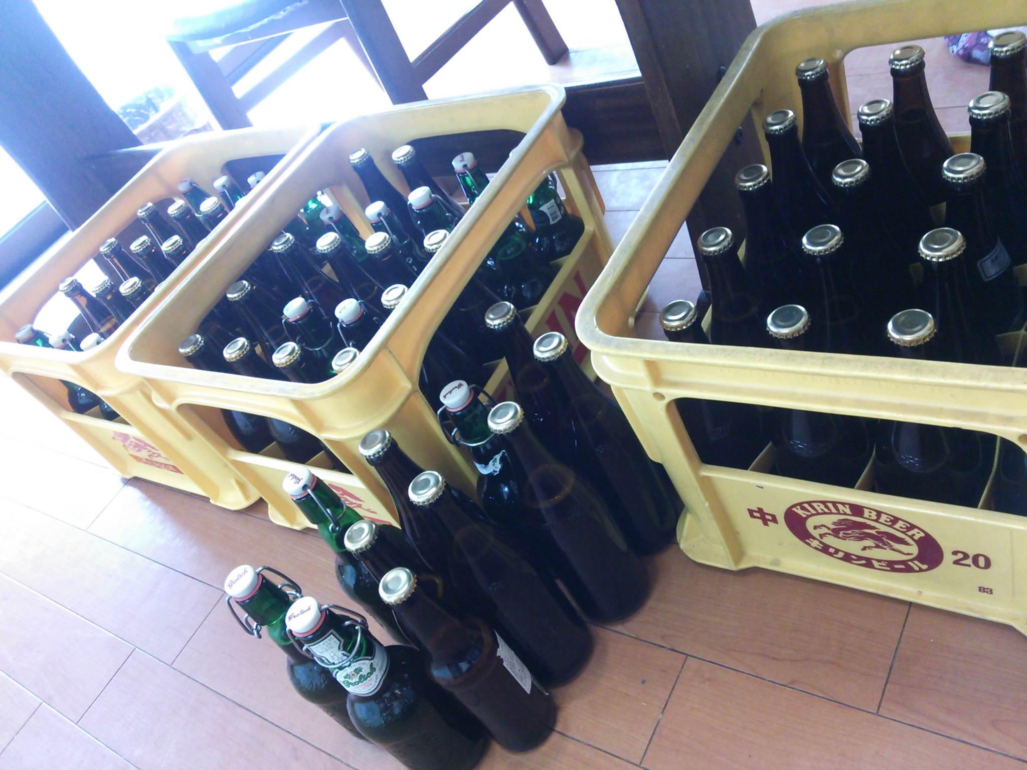 大量ビール