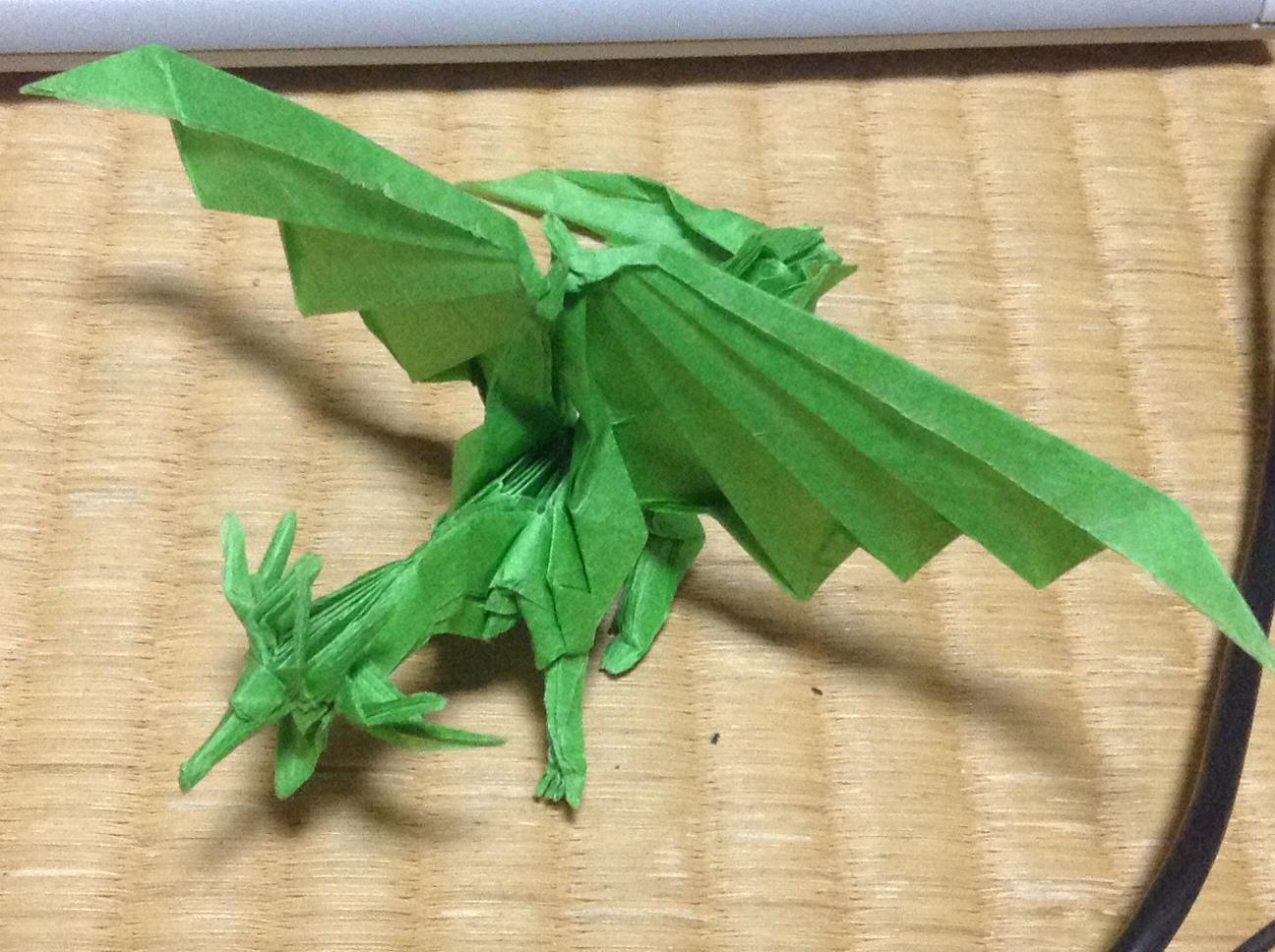 すべての折り紙 上級折り紙 : ドラゴンの折り方 - 多趣味な ...