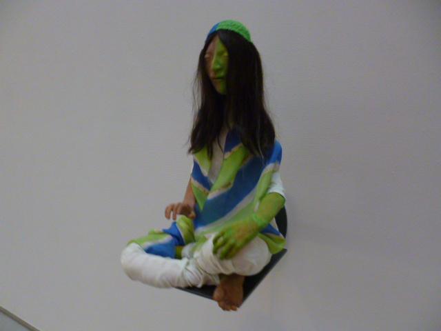 青と緑のスカーフ