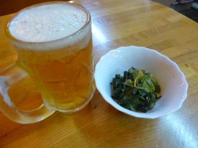 先ず野菜とノンアルコールビールからスタートです