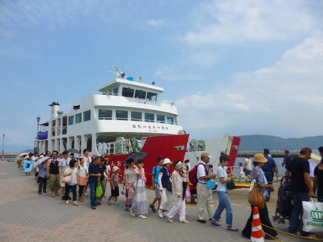 女木島に到着です