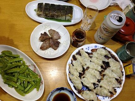 6062013夕飯餃子S