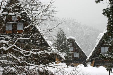 雪をかぶった絶景の冬の白川郷~水墨画のような日本の原風景をのんびり散策 !⑤