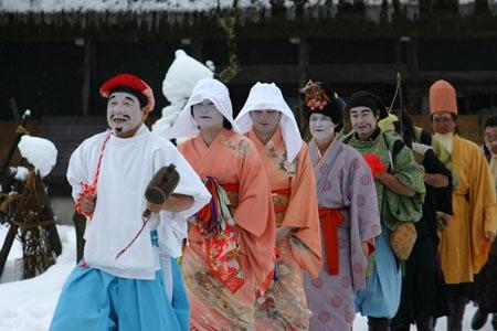 明けまして おめでとうございます 世界遺産白川郷の元旦 伝統行事「春駒(はるこま)」2
