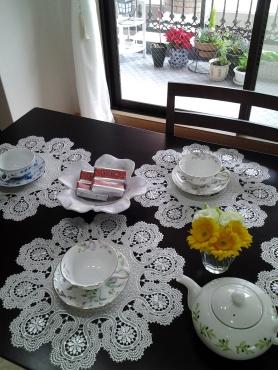母とケイコさんとお茶