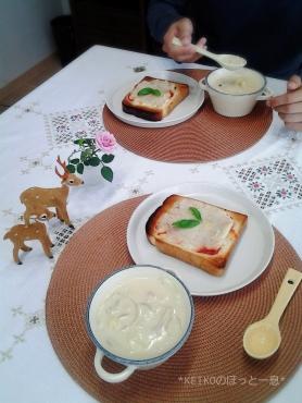 ポテトパンとクリーミー豆乳スープ2