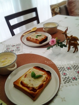 ポテトパンとクリーミー豆乳スープ3