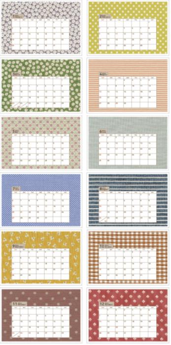 moda カレンダー