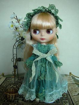 アリッサグリーンドレス1