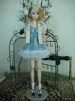 Ambivalent Girl ブルーワンピAF3