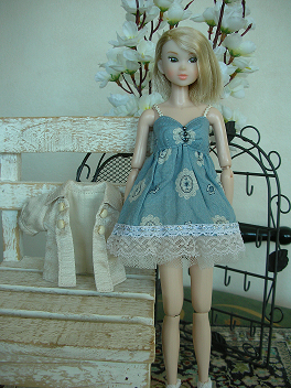 Ambivalent Girl ブルーワンピAF5