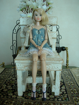 Ambivalent Girl ブルーワンピAF6