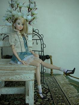 Ambivalent Girl ブルーワンピAF7