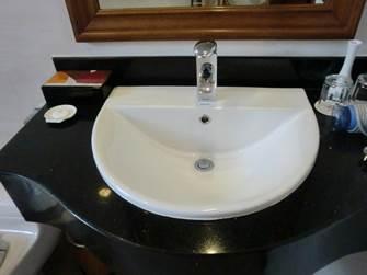 ハノイ デマントイドホテル デラックス 洗面台