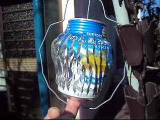 空き缶を使った提灯[型風車