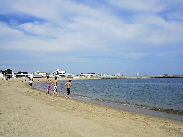 2013.6.14 須磨で初泳ぎ。今年はイルカが楽しみです♪