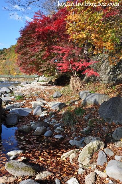 紅の吊り橋の紅葉2