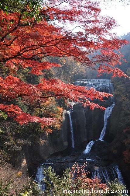 袋田の滝の紅葉3