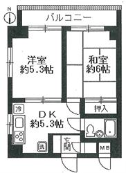 アーバン西大井303号間取り図_R