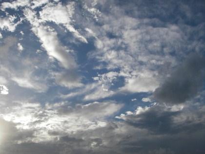10月9日強風の空