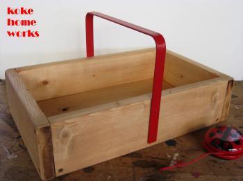 木箱(鉄製取手付):赤