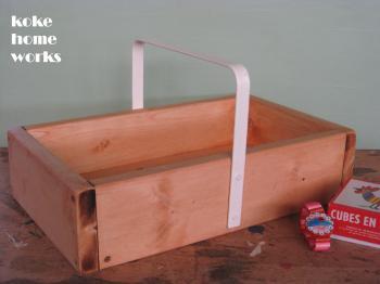 木箱(鉄製取手付):白