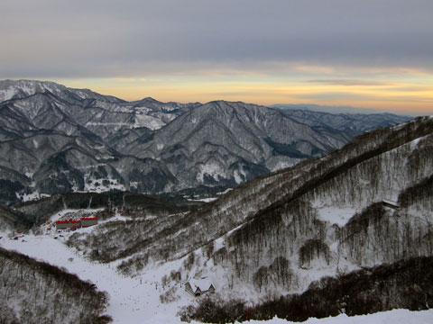 板平コースからの夕景