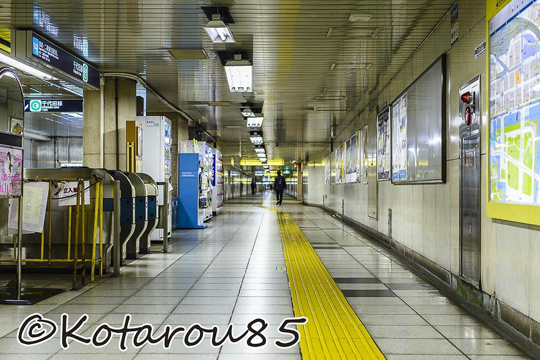 土曜日の地下鉄 20141109