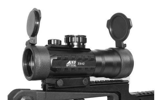 ANS Optical RD2x42F サイドレイル付 ライフルスコープ
