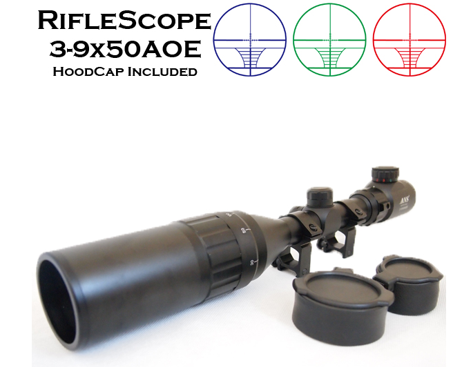 ANS Optical ライフルスコープ フロントフォーカス 3-9x50