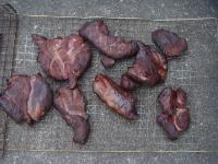 燻製後のシカ肉