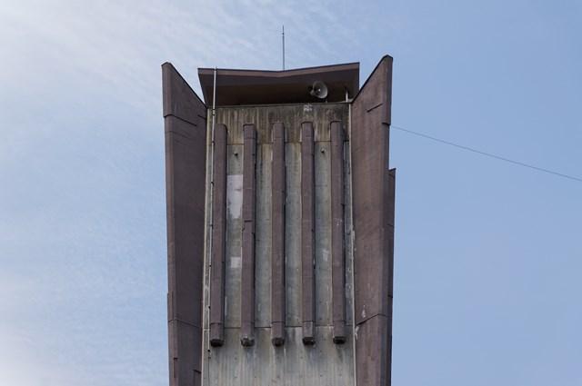 福岡県営壱岐団地の給水塔頭頂部